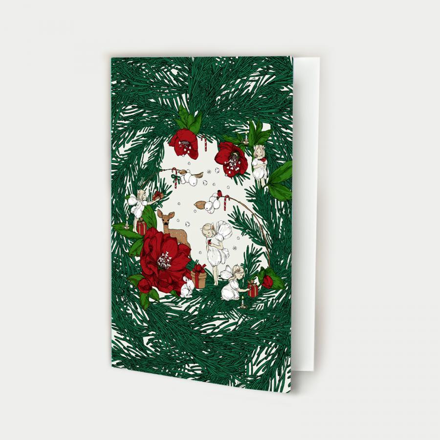 Joulusatu kortti avattava
