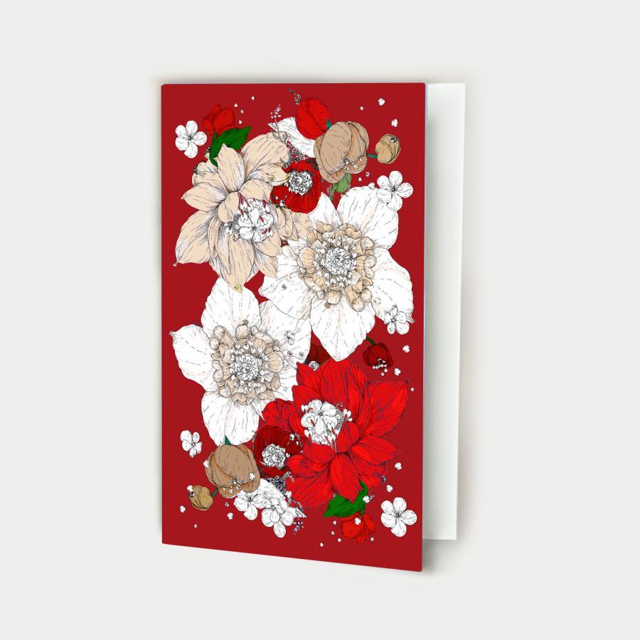 Sydäntalvi kortti avattava, joulu