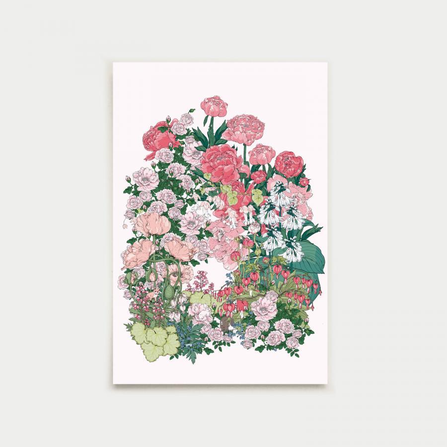 Salainen puutarha postikortti, nude
