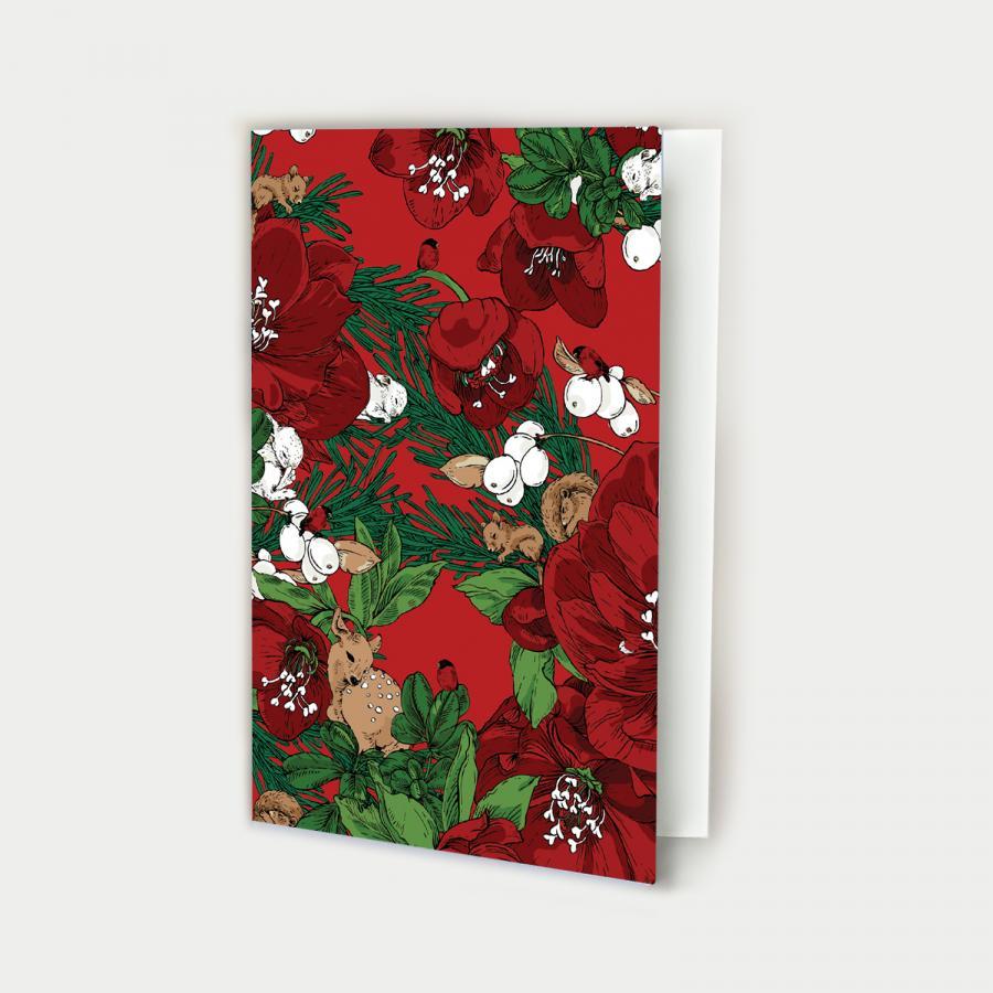 Talviuni kortti avattava, joulu