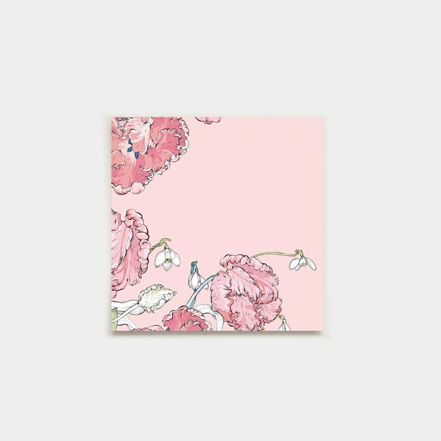 Kevään kurkotus fyrkantigt kort, pastel