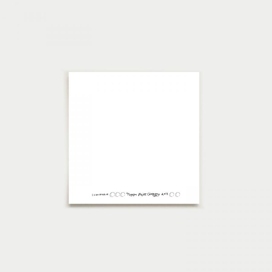 Lumimarja fyrkantigt kort, red
