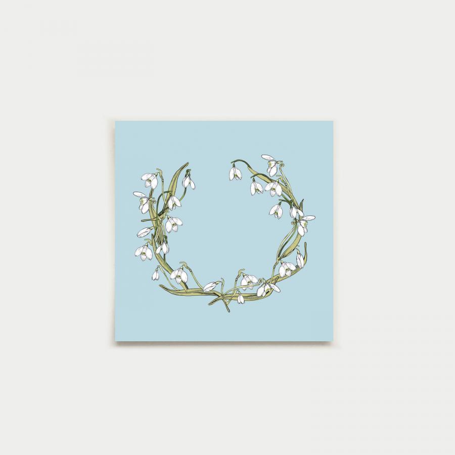 Kevätkruunu neliökortti, aqua