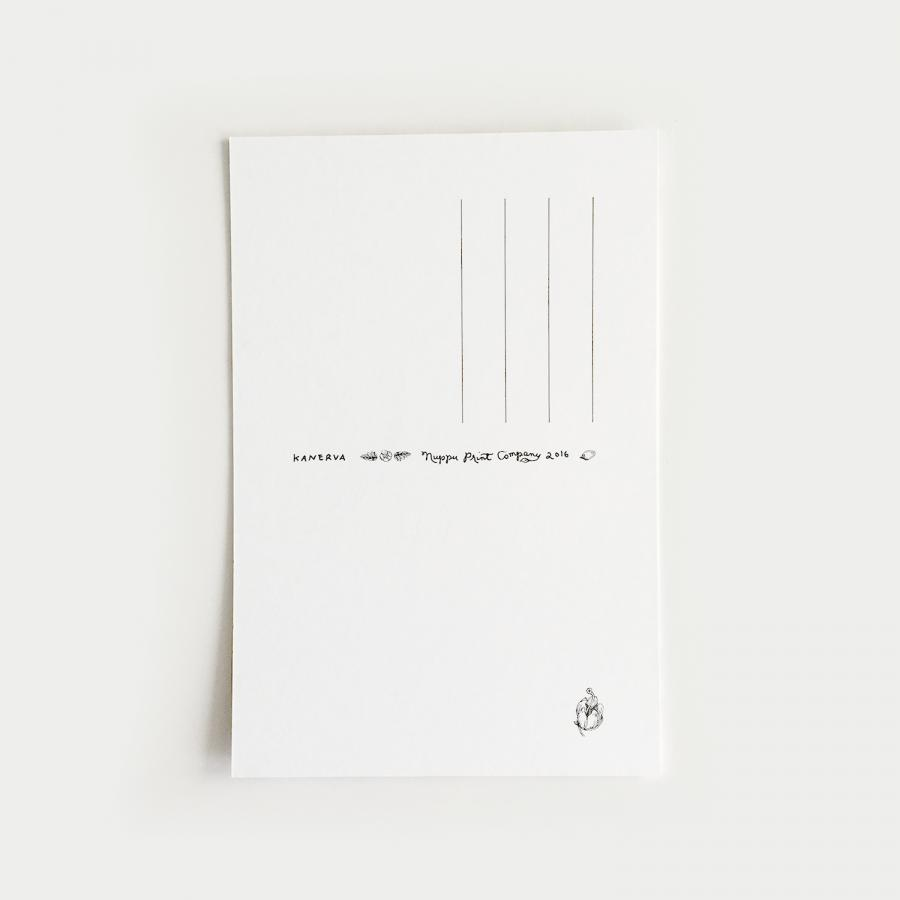 Kanerva postikortti, musta