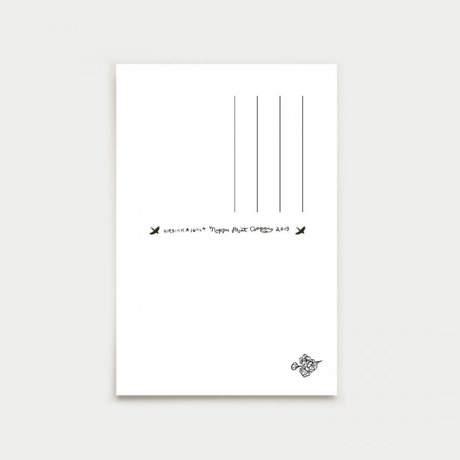 Kirsikkajuhla postikortti, turkoosi