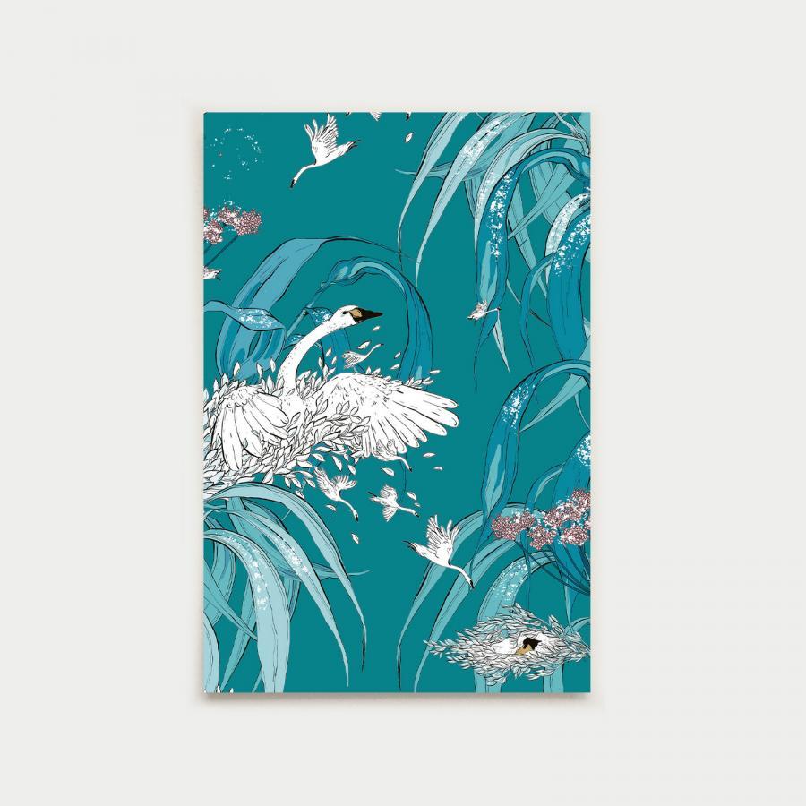Paratiisin aamu postikortti, laguuni