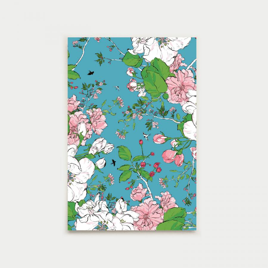 Pilvipuutarha vykort, turquoise