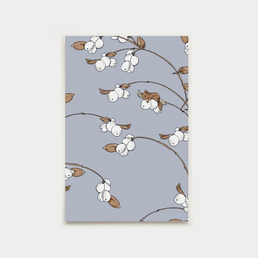 Lumimarja postikortti, laventeli