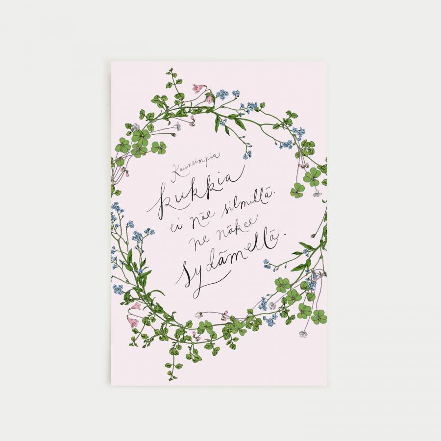 Kauneimpia kukkia postikortti, nude