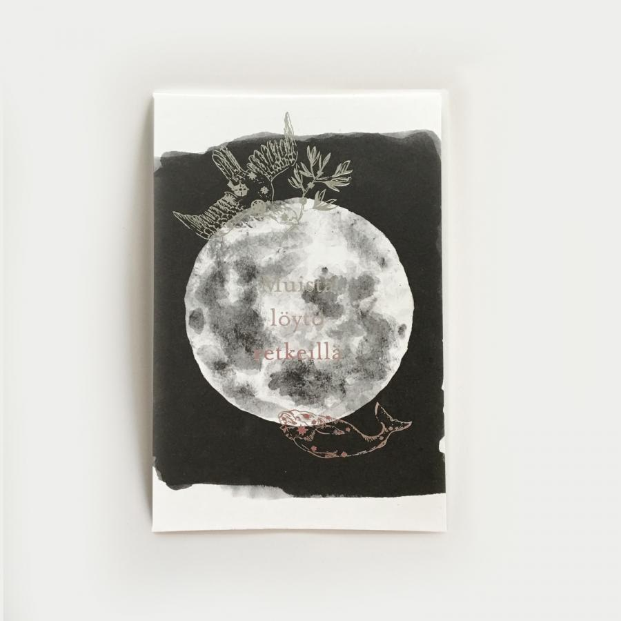 Yö postikortti, kuu