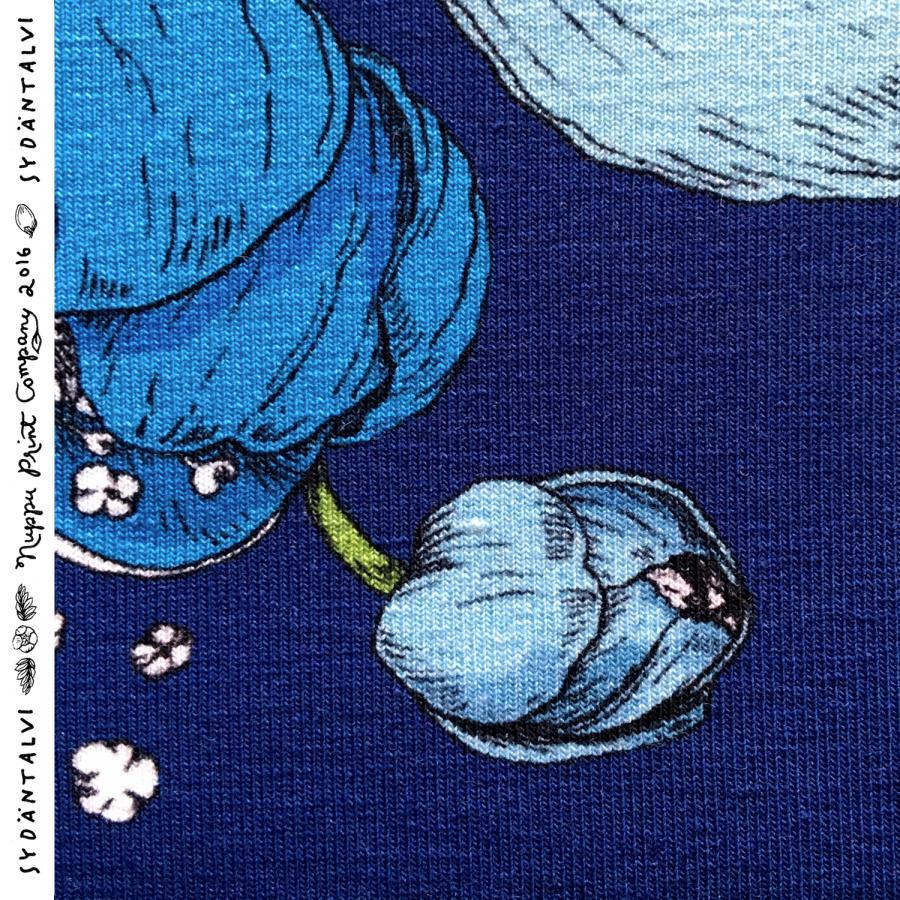 Sydäntalvi luomutrikoo, turkoosi