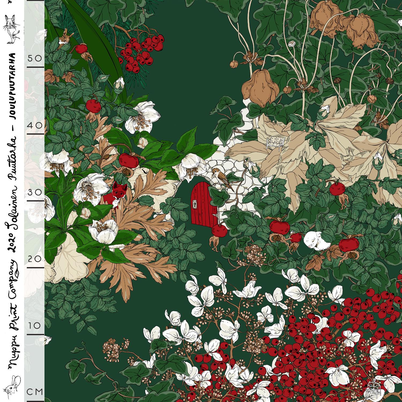 Joulupuutarha iso luomutrikoo, joulunvihreä