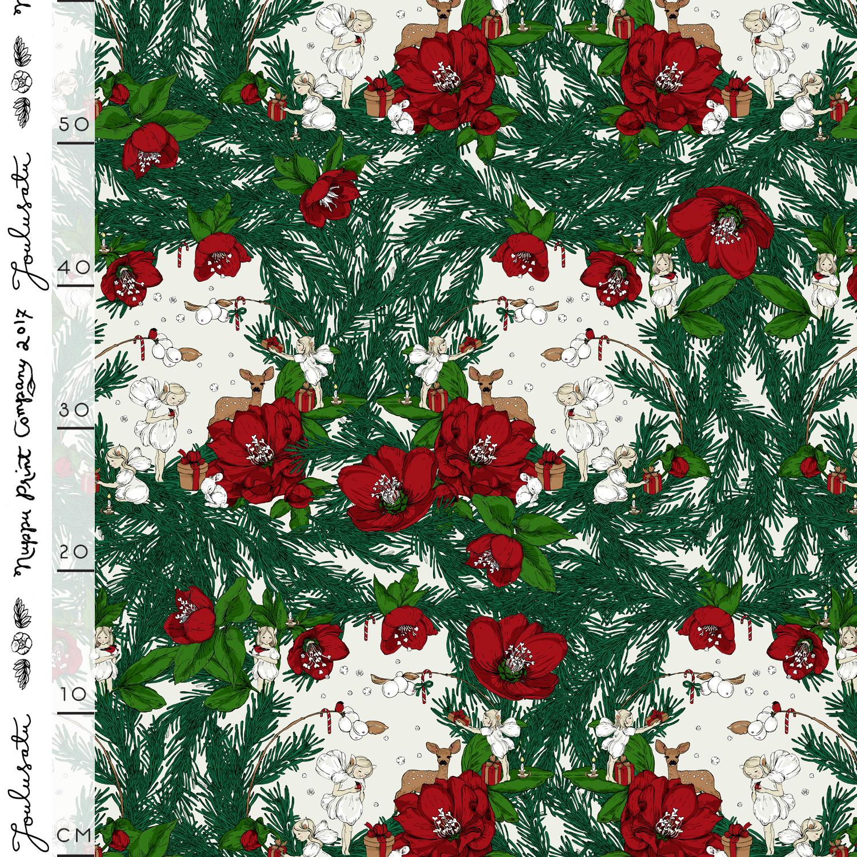Joulusatu luomutrikoo, punainen